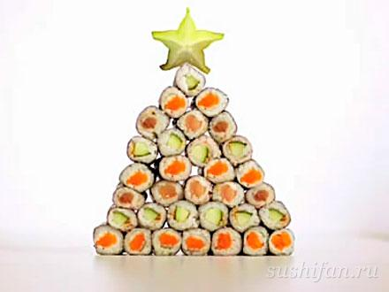 Sushi Christmas (рождественские суши) | суши, роллы, сашими